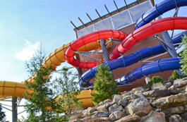 Water park attraction at Split Rock Resort in Pennsylvania.