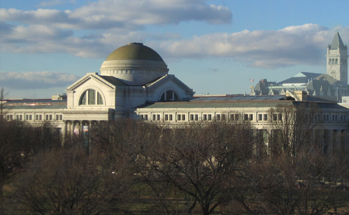 Beautiful view of the National Museum of Natural History with blue sky in background.