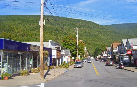 The mountains & the hamlet of charming Phoenicia in upstate NY.