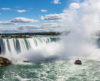 Horseshoe Falls seen from the Canadian side of Niagara Falls.